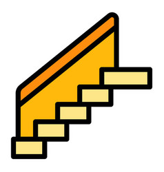 Stairs icon color outline vector