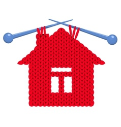The house knitted vector