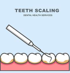 Tooth scaling icon - row of tooth cleaning vector