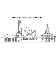 united states toledo ohio line skyline vector image