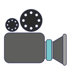 video camera icon in colorful silhouette vector image
