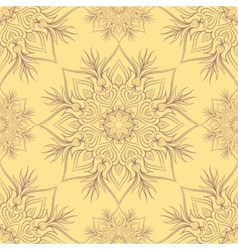 Vintage pattern with linear ornament vector image vector image