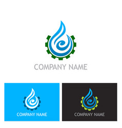 water drop abstract maintenance logo vector image