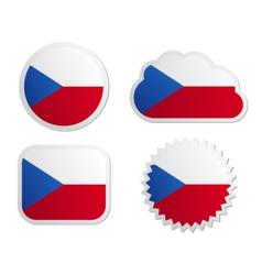 Czech Republic flag labels vector image vector image