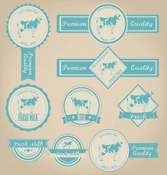 Fresh Milk Label Design vector image