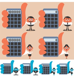 Holding Calculator vector image vector image