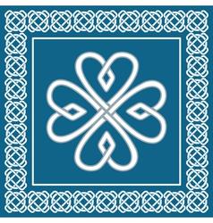 Shamrock - celtic knot traditional irish symbol vector image vector image