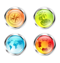 Travel Button Collection vector image vector image