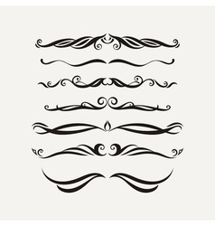 set of elegant curls and swirls Elements for vector image