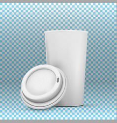 coffee cup mockup vector image