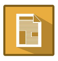 emblem information paper icon vector image vector image