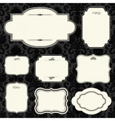 label set vector image vector image