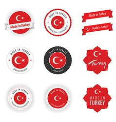 Made in Turkey labels badges and stickers vector image