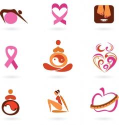 motherhood icons vector image vector image