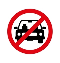 Parking prohibited sign isolated icon vector image