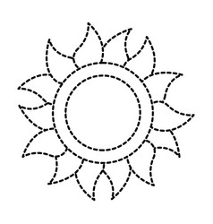summer sun isolated icon vector image vector image