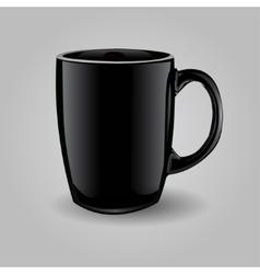 Template ceramic clean black mug vector image vector image
