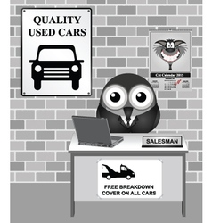 Used Car Showroom vector image vector image