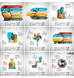 9 in 1 infographic bundle vector