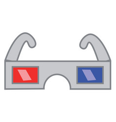 a retro glass used to watch 3d picture or color vector image