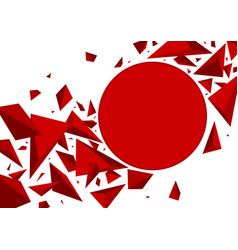 Abstract background design red 3d triangle vector