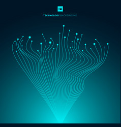 abstract glowing blue wavy lines motion pattern vector image