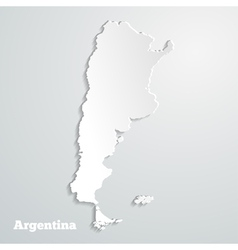 Abstract icon map of Argentina vector image