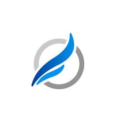 Abstract wing loop company logo vector