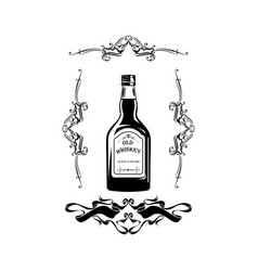Alcohol bottle old whiskey drink drinking cocktail vector