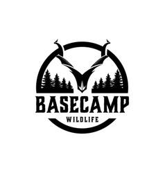 Basecamp hunting wildlife deer wild goat capra vector