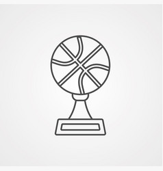 basketball icon sign symbol vector image