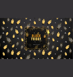 black friday sale abstract dark background with vector image