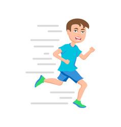 boy running kid marathon runner or a boy running vector image