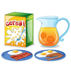 Breakfast foods vector image