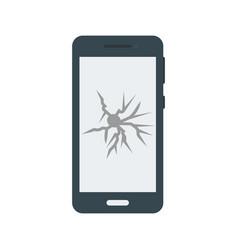 Broken cell phone vector