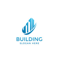 Building logo real estate logo skyline logo vector