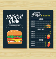 burger menu template vector image