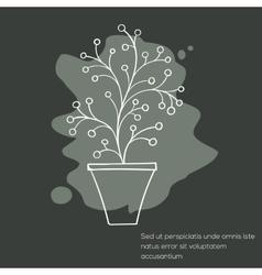 Cactus invitation card vector