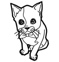 cartoon Cat Coloring Page vector image