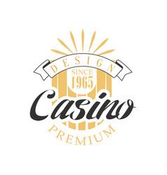 casino premium logo design colorful vintage vector image