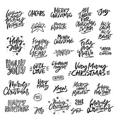 Christmas lettering set vector