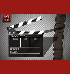 cinema festival flyer or poster with movie reel vector image