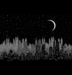 cityscape in night vector image