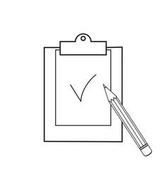 clip board pencil icons vector image