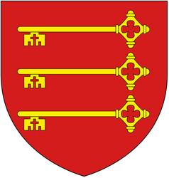 Coat arms french city avignon vector