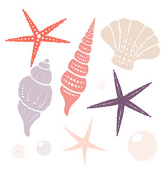 collection of marine isolated design elements vector image