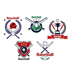 Colored Baseball emblems and badges vector image