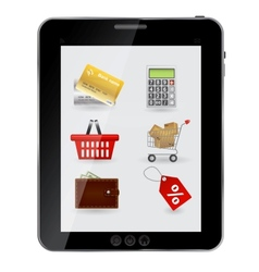 Concept of Shopping icons set ob abstract design vector image