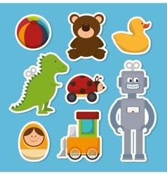 Cute toys design vector