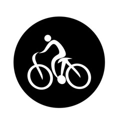 Cycling sport silhouette icon vector